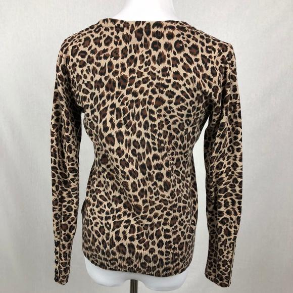 75% off Apt. 9 Sweaters - APT 9 Leopard print v-neck cardigan ...